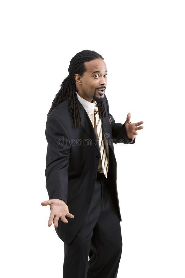 Homem de negócio do americano africano fotos de stock