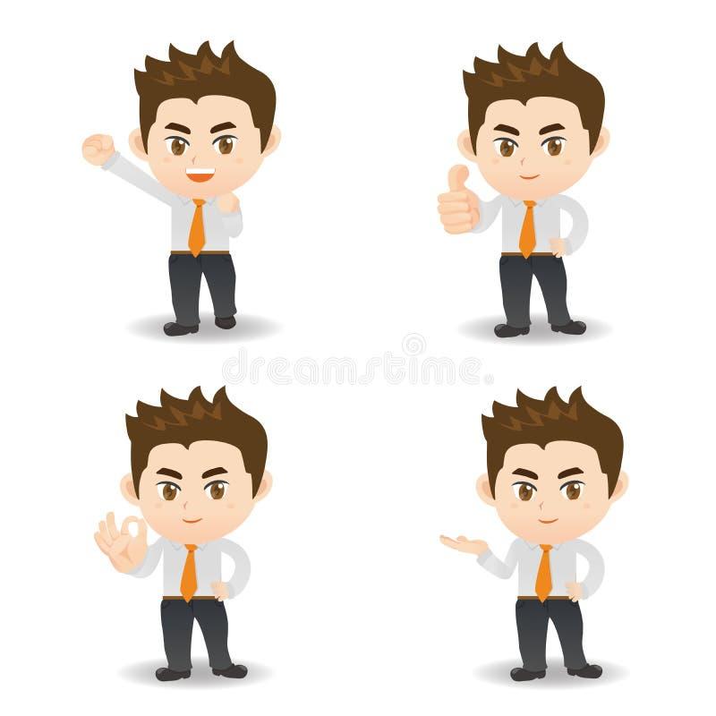 Homem de negócio dos desenhos animados ilustração stock