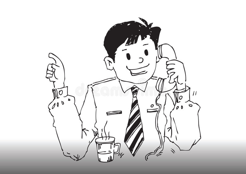 Homem de negócio dos desenhos animados do vetor ilustração stock