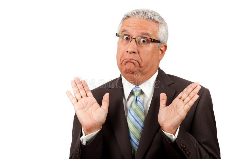 Homem de negócio Dumbfounded fotos de stock royalty free