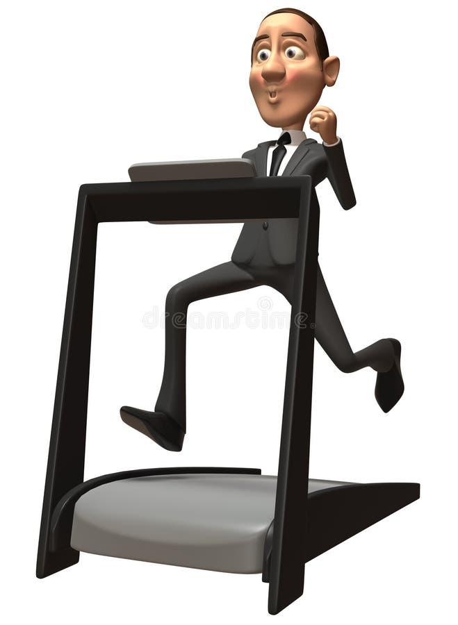 Homem De Negócio Em Uma Escada Rolante Fotos de Stock Royalty Free