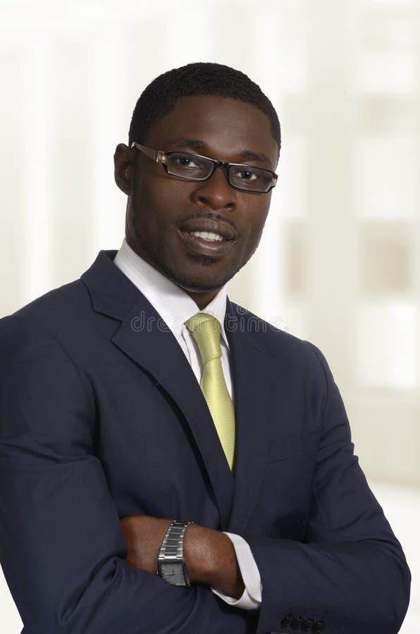 Homem de negócio/estudante africanos Portrait imagem de stock royalty free
