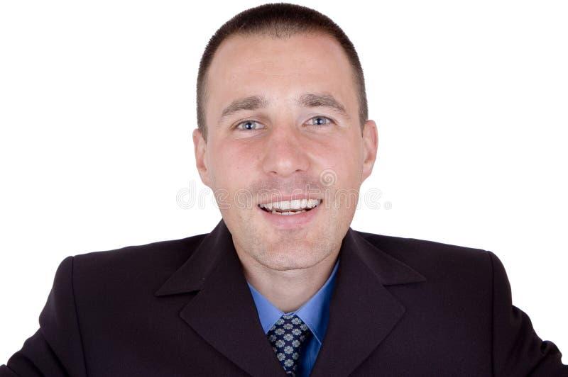 Homem de negócio feliz foto de stock