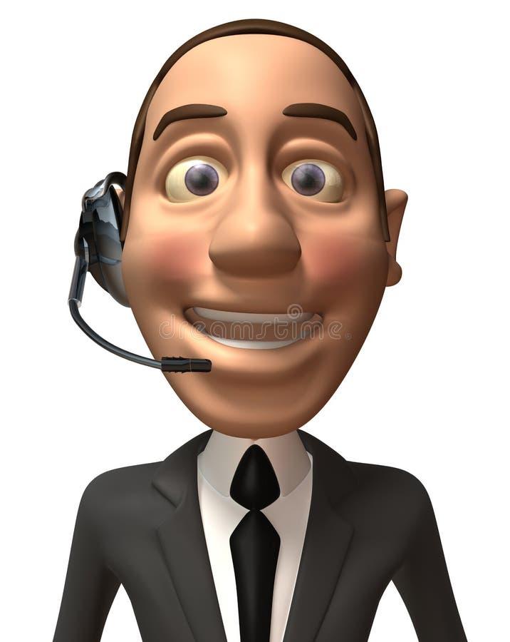 Homem de negócio feliz ilustração do vetor