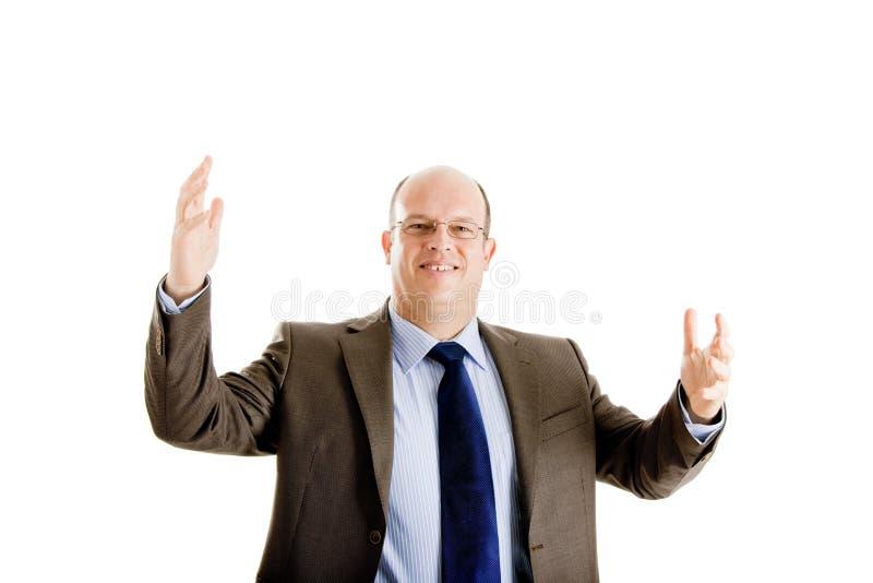 Download Homem De Negócio Feliz E Bem Sucedido Foto de Stock - Imagem de optimistic, amigável: 12805706
