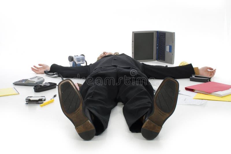 Homem de negócio forçado imagens de stock