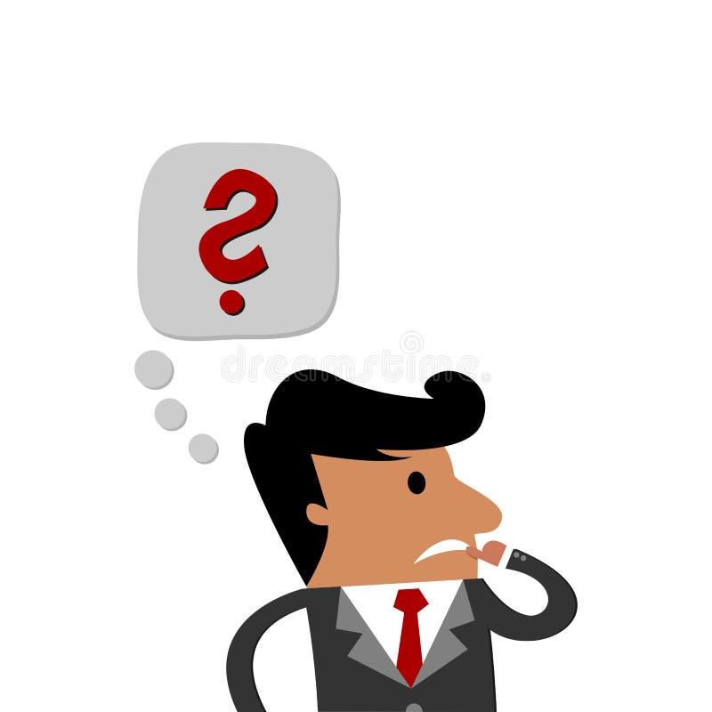 Homem de negócio internacional que enfrenta um desafio ilustração royalty free