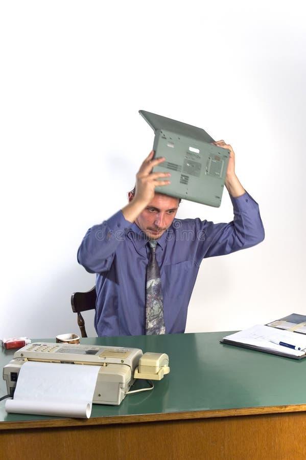 Homem de negócio irritado imagens de stock royalty free