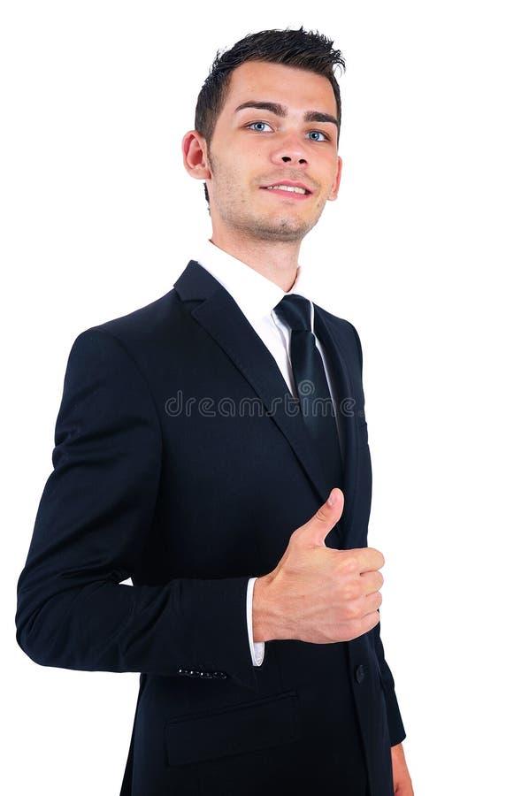 Homem de negócio isolado fotografia de stock royalty free