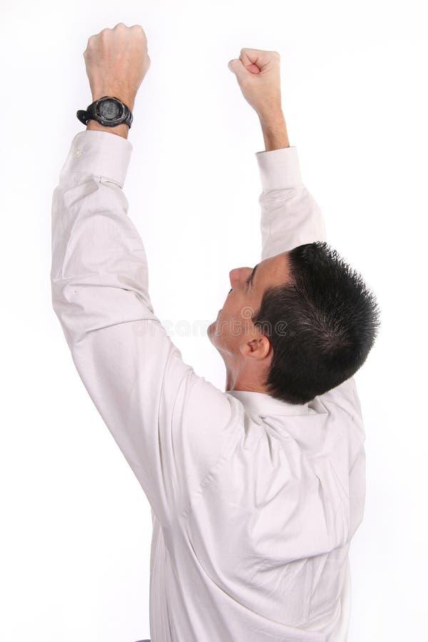 Homem de negócio isolado no branco fotografia de stock