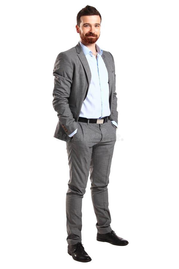 Homem de negócio isolado no branco imagens de stock royalty free