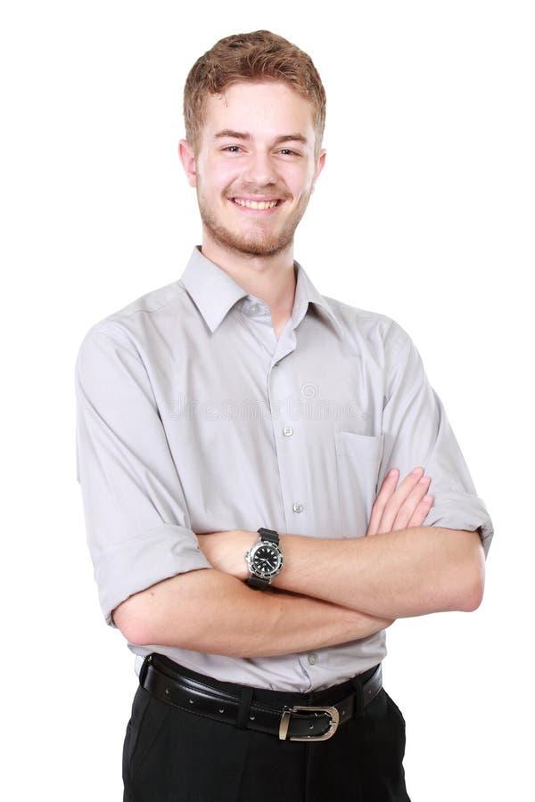 Homem de negócio isolado no fundo branco fotos de stock