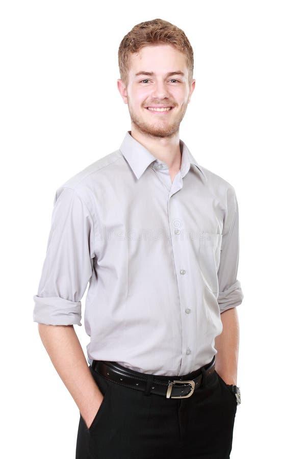 Homem de negócio isolado no fundo branco imagens de stock