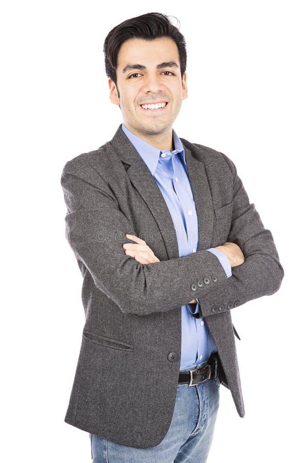 Homem de negócio latino-americano fotografia de stock
