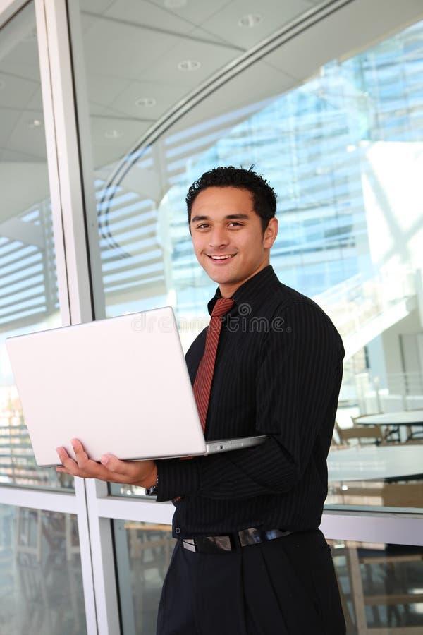 Homem de negócio latino-americano de Handome fotografia de stock royalty free