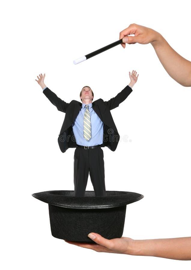 Homem de negócio mágico fotos de stock