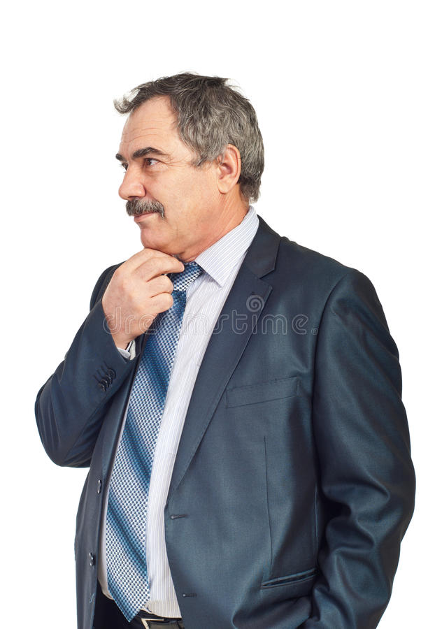 Homem de negócio maduro preocupado fotografia de stock