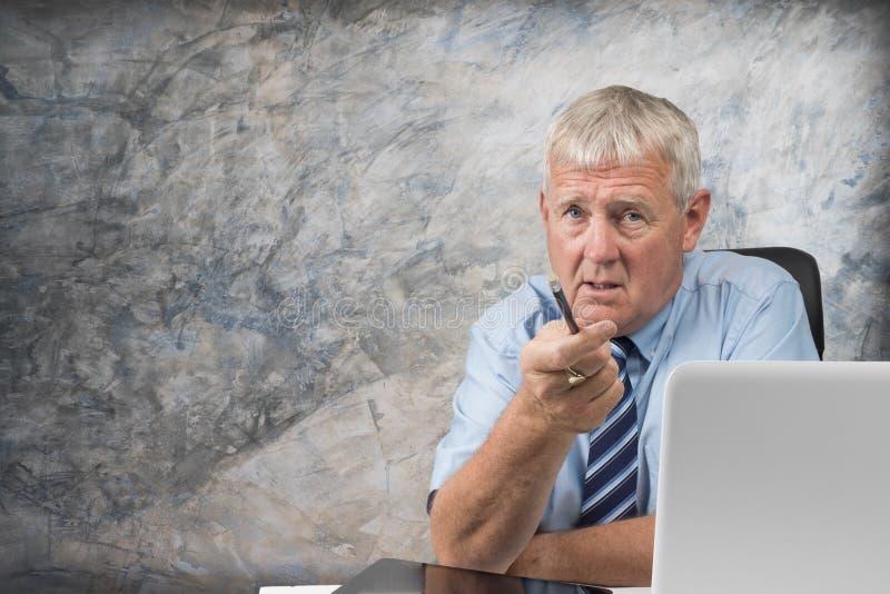 Homem de negócio mais idoso imagem de stock