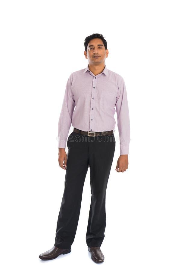 Homem de negócio masculino indiano sério imagem de stock
