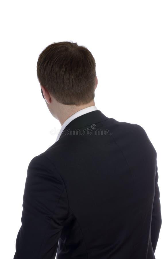 Homem de negócio anônimo, vista traseira foto de stock royalty free
