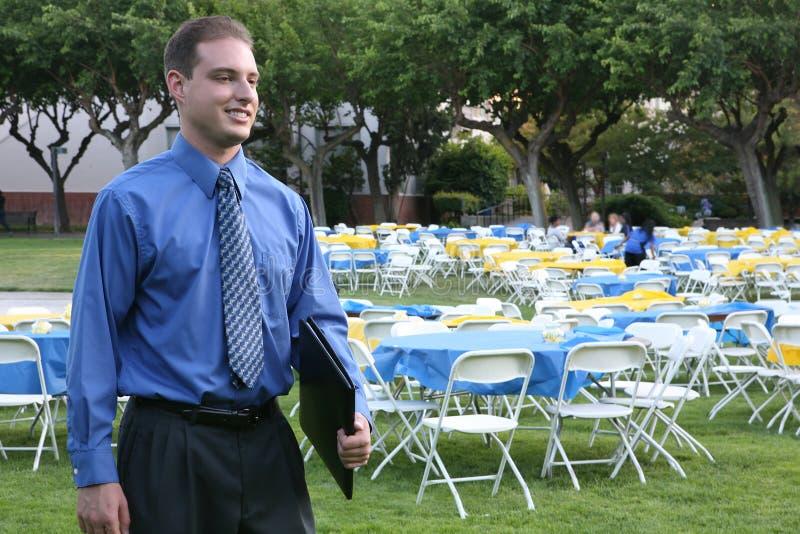 Homem de negócio no banquete fotos de stock royalty free