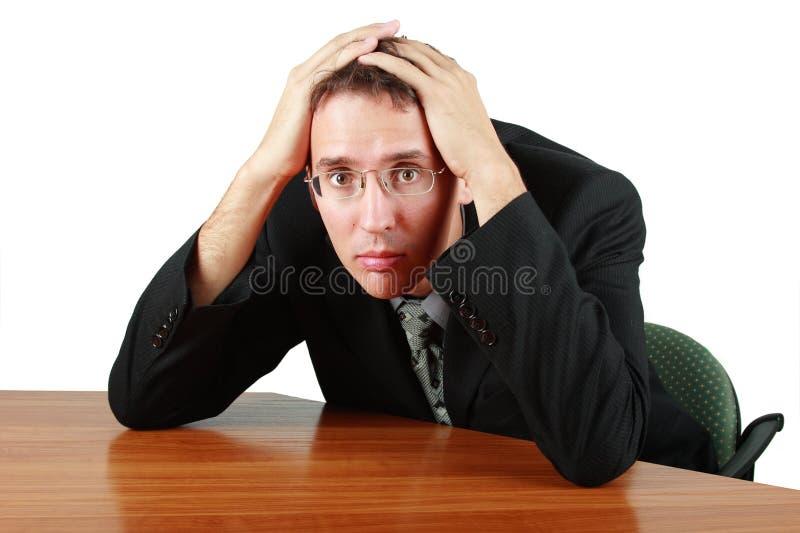 Homem de negócio no problema fotos de stock royalty free
