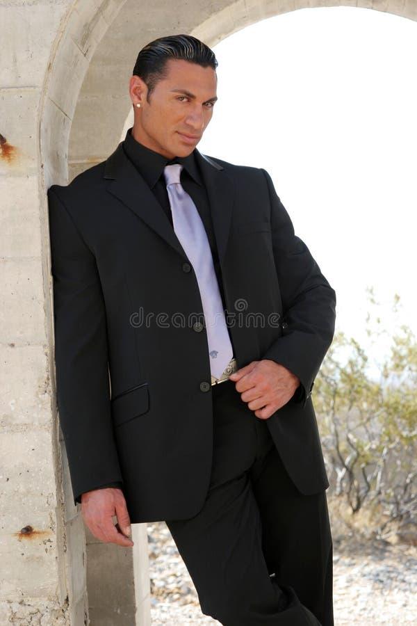 Homem de negócio no terno imagens de stock royalty free