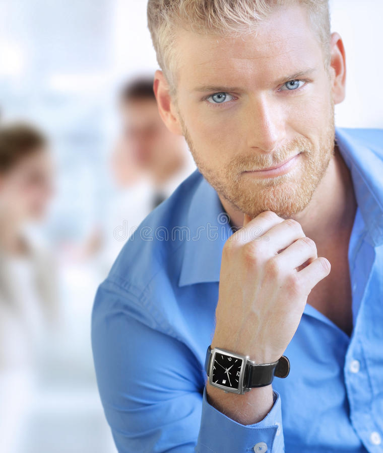 Homem de negócio novo fotos de stock royalty free