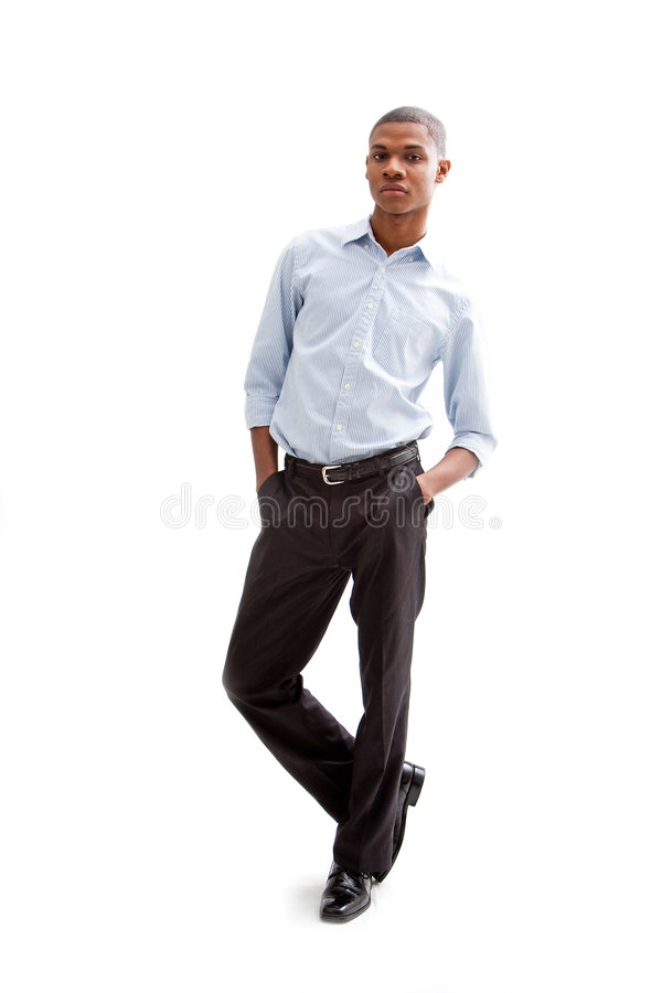 Homem de negócio novo fotografia de stock