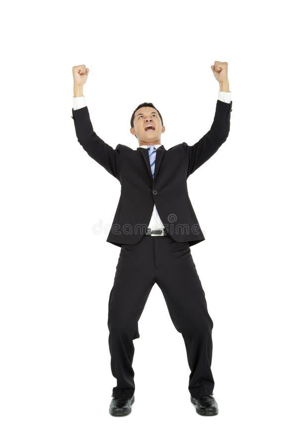 Homem de negócio novo Excited imagens de stock royalty free