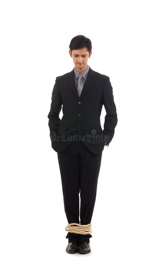 Homem de negócio novo no problema fotos de stock