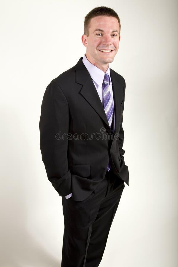 Homem de negócio novo Relaxed fotografia de stock royalty free