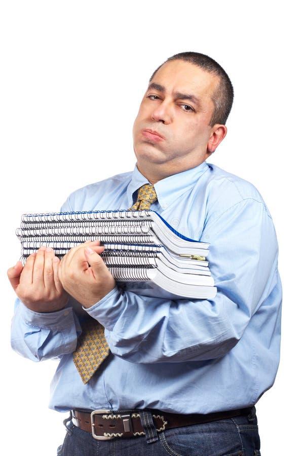Homem de negócio ocupado imagem de stock