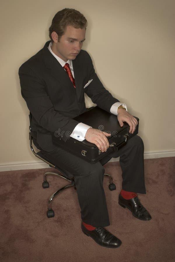 Homem de negócio Passionless imagem de stock royalty free