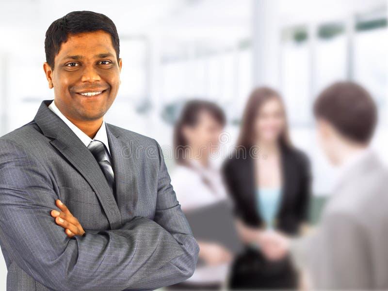 Homem de negócio preto fotografia de stock royalty free
