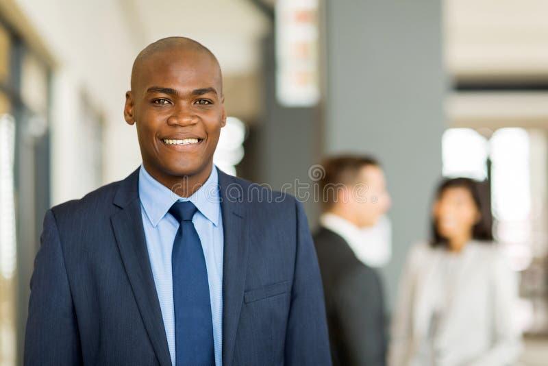 Homem de negócio preto fotografia de stock