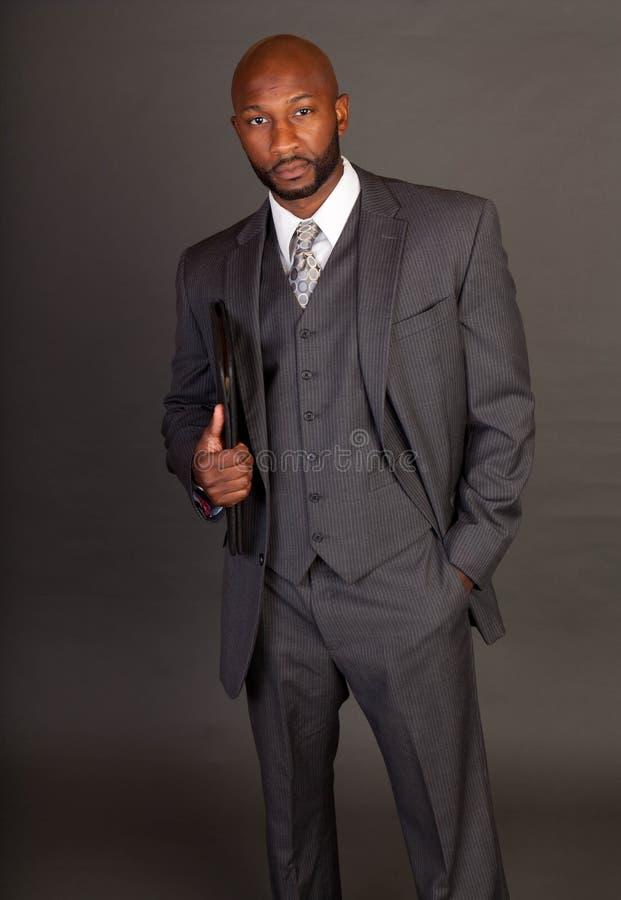 Homem de negócio preto novo imagens de stock royalty free