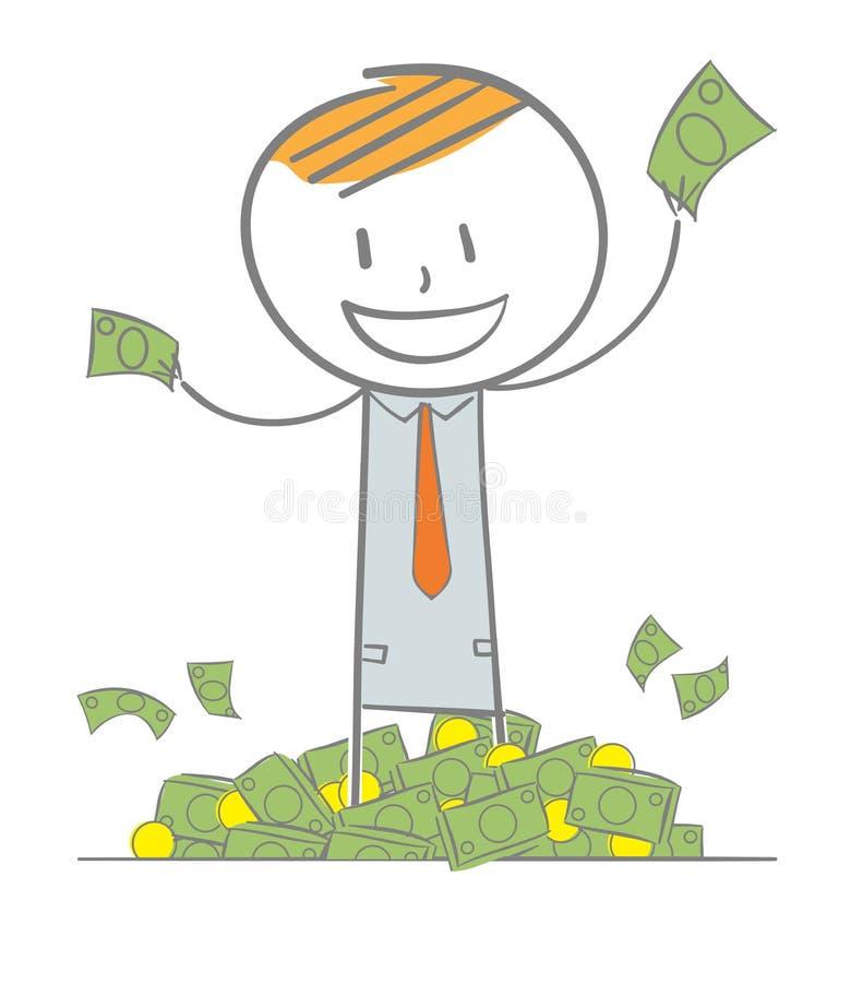 Homem de negócio rico ilustração royalty free