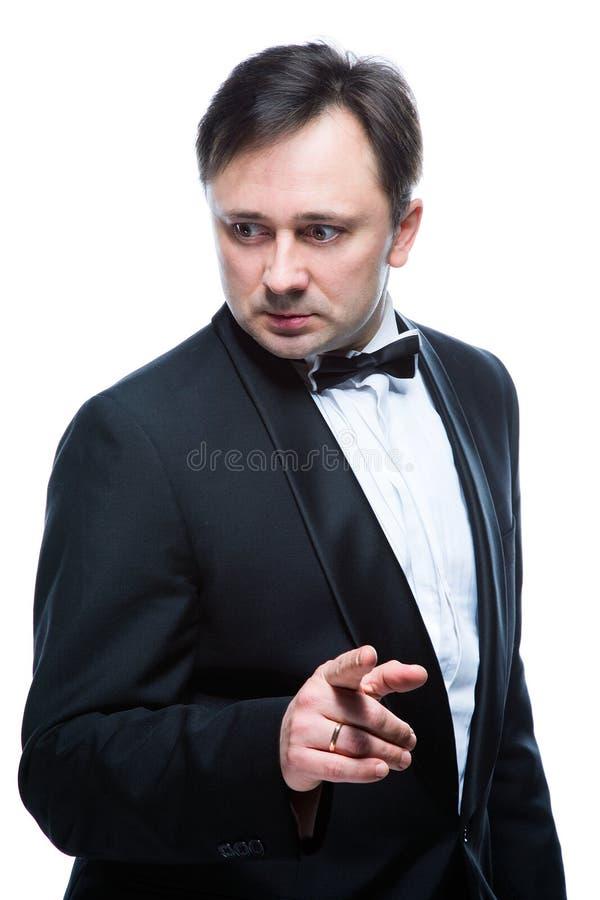 Homem de negócio sério fotos de stock