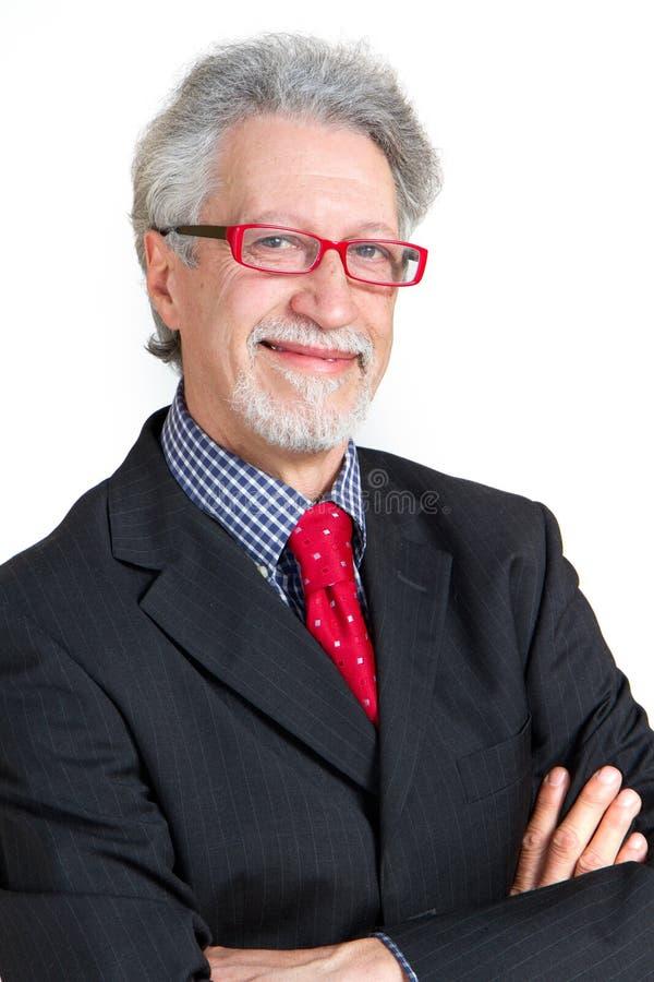 Homem de negócio sênior imagens de stock