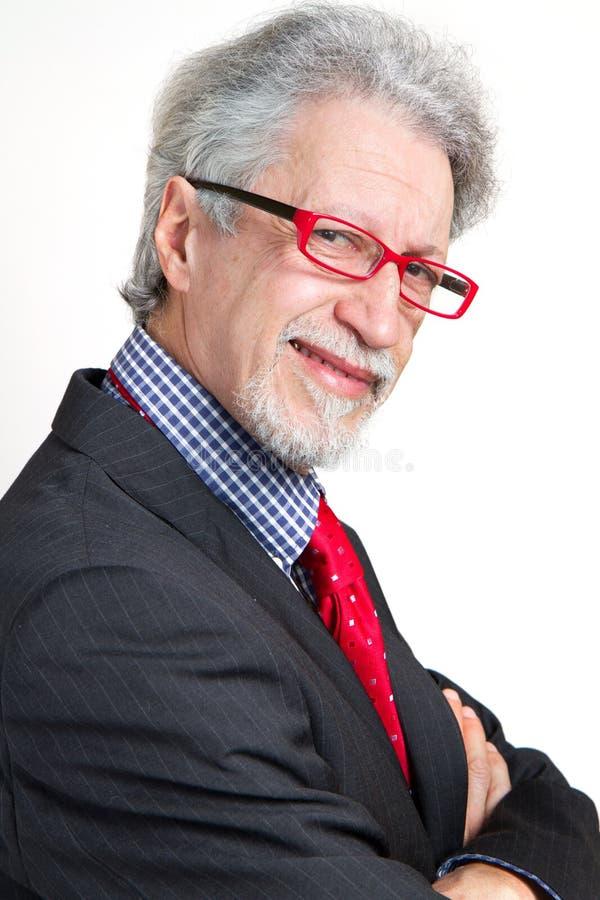 Homem de negócio sênior fotografia de stock royalty free