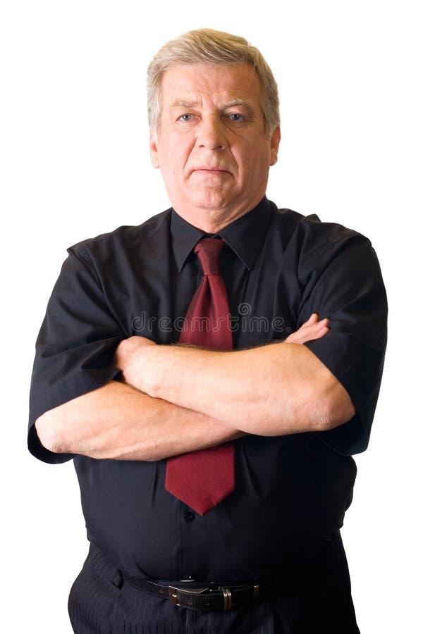Homem de negócio sênior isolado imagens de stock