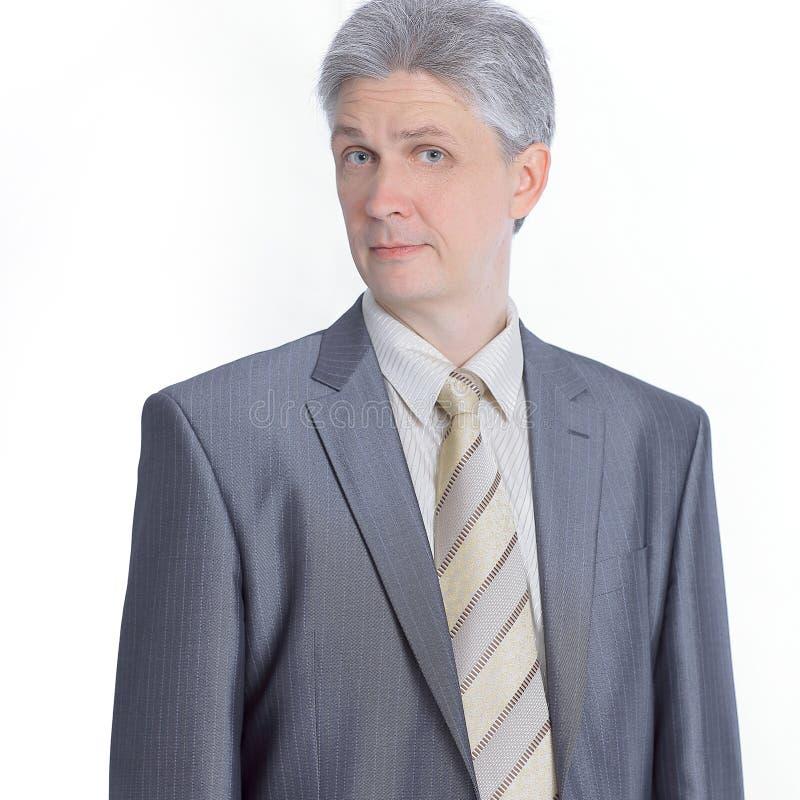 Homem de negócio seguro em um terno de negócio fotos de stock royalty free
