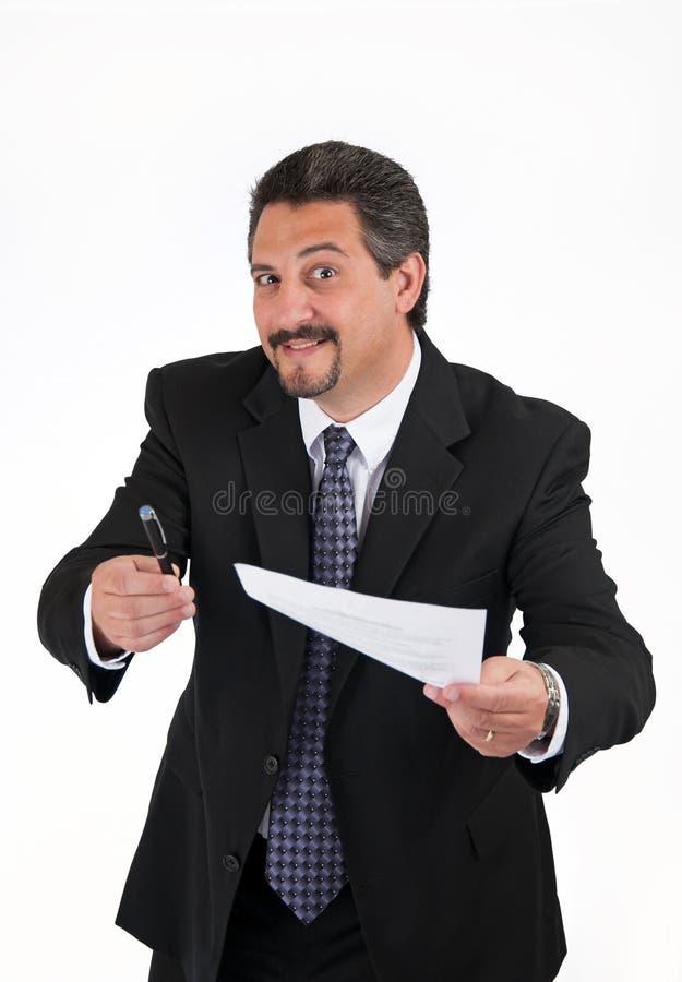 Homem de negócio Sneaky fotos de stock
