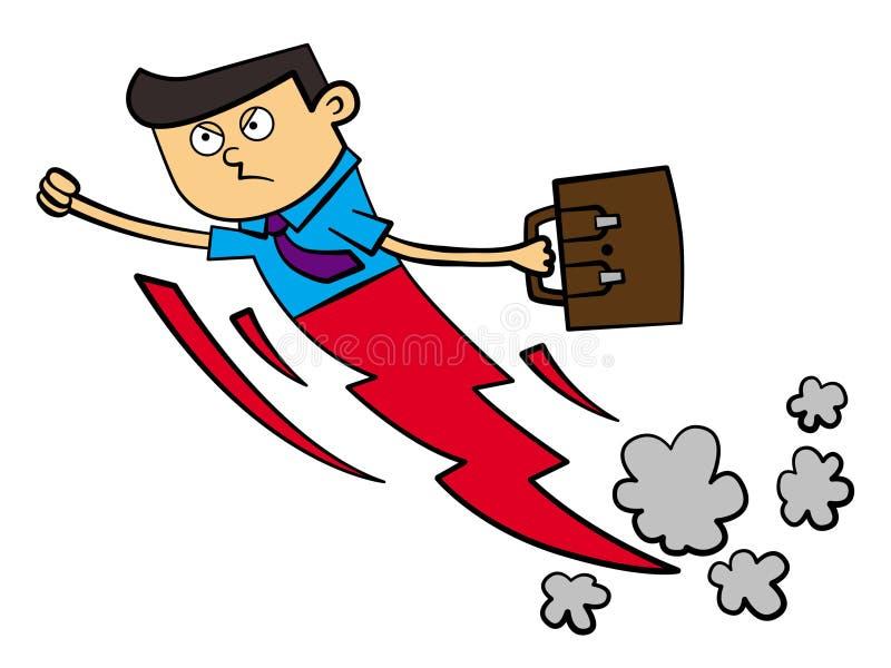 Homem de negócio super ilustração do vetor