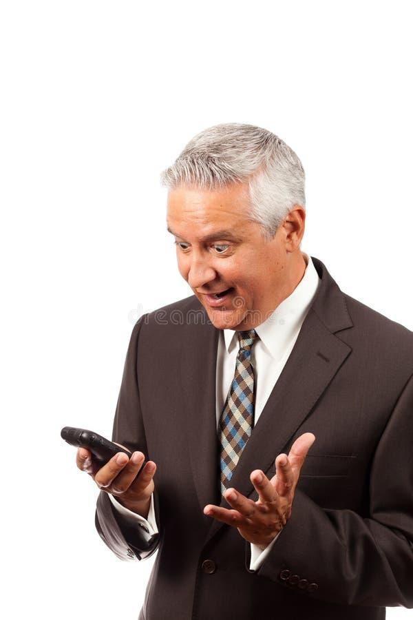 Homem de negócio surpreendido fotos de stock