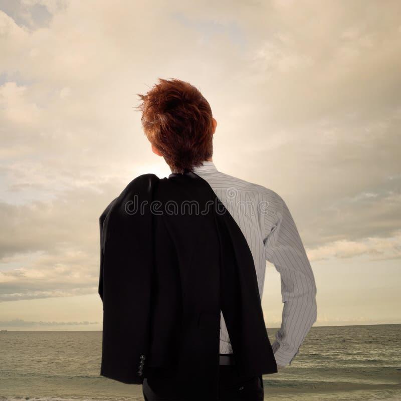 Homem de negócio Tired imagem de stock royalty free