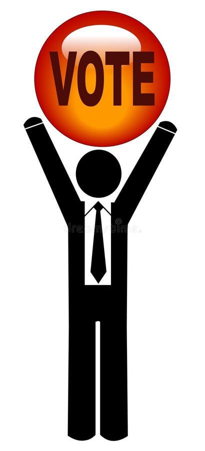 Homem de negócio - vote por favor ilustração stock