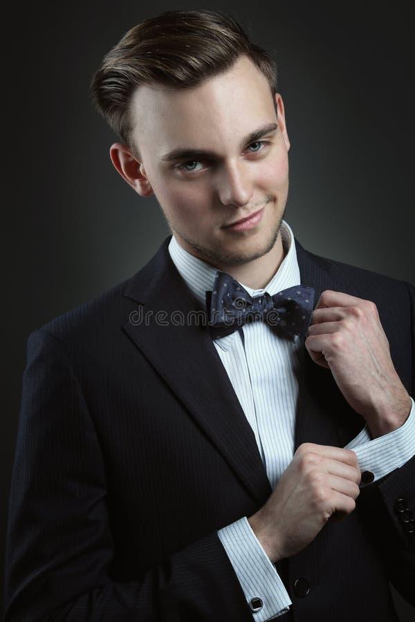 Homem de negócios à moda da forma imagens de stock royalty free