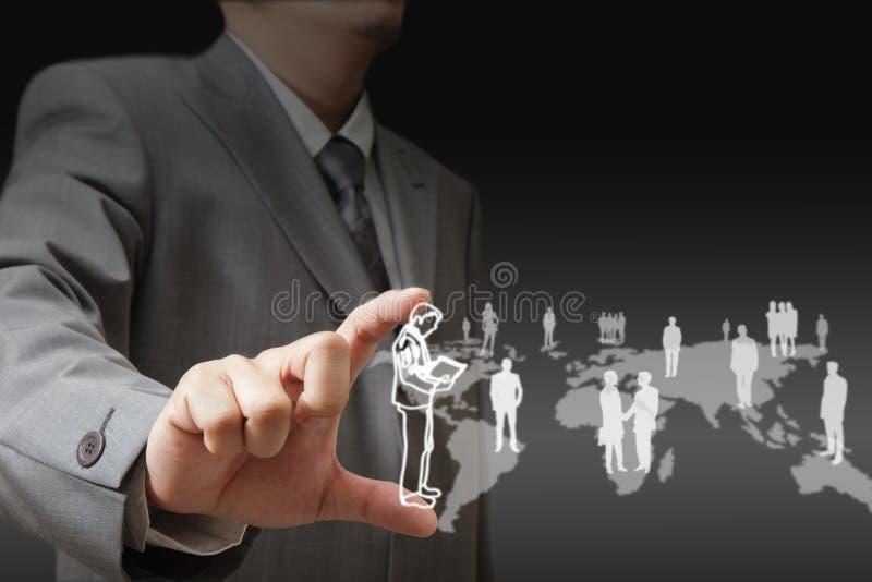 Download Homem De Negócios à Moda Novo Imagem de Stock - Imagem de digital, dedo: 26520493